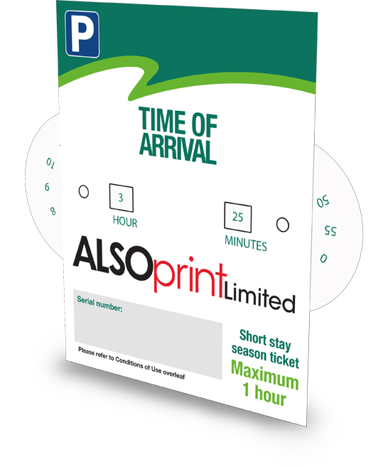 ALSOPrint - Limited Parking Clock